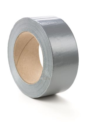 a roll of Grey Duct Tape with white background Reklamní fotografie