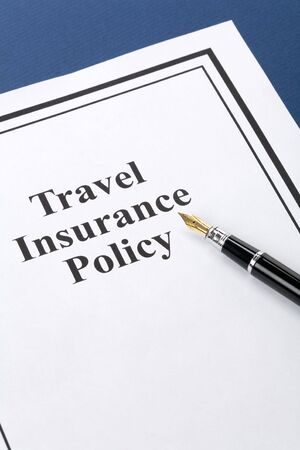 Document of Travel Insurance Policy for background Stock fotó
