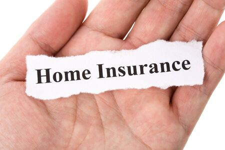 Headline of home Insurance with blue background
