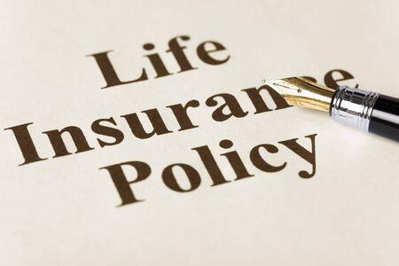 Document van levens verzekerings polis voor achtergrond