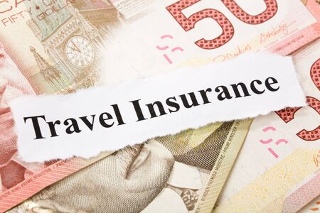 Headline of travel Insurance for background