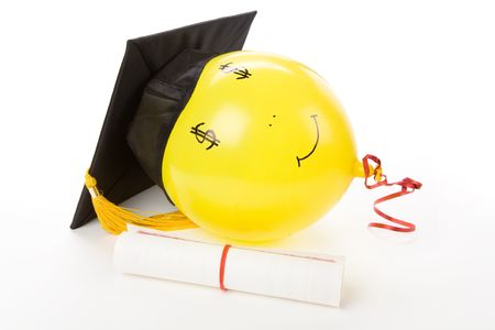 balloon and Black Mortarboard, high pay jobs photo