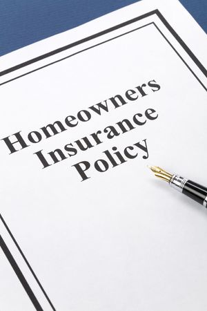 homeowners insurance: Document of Homeowners Insurance Policy for background Stock Photo