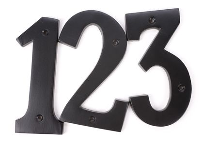 1: number 1 2 3 with white background