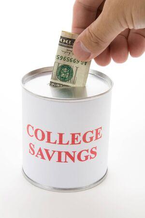 College Savings, Idee des Sparens für college Standard-Bild - 3560034