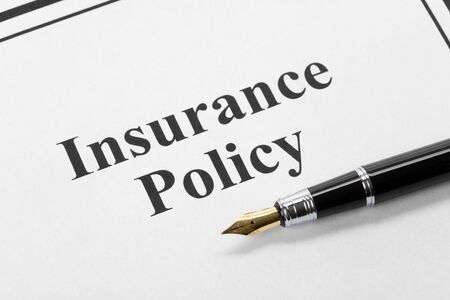 Document of Insurance Policy, Life; Health, car, travel,  for background   photo