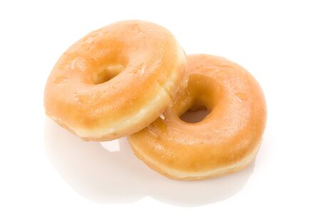 a sweet donut with white background Stock Photo