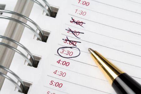 Kalender agenda, planning, close-up shot voor achtergrond
