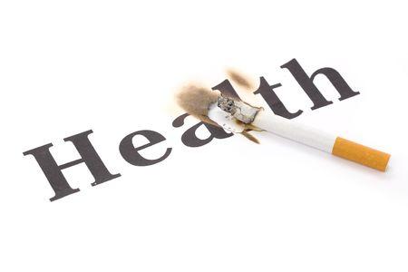 A Cigarette Butt close up, concept of Unhealthy Living