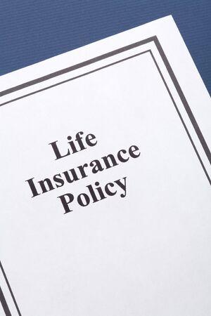 Document van levensverzekering voor achtergrondinformatie
