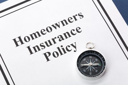 policies: Document of Homeowners Insurance Policy for background Stock Photo