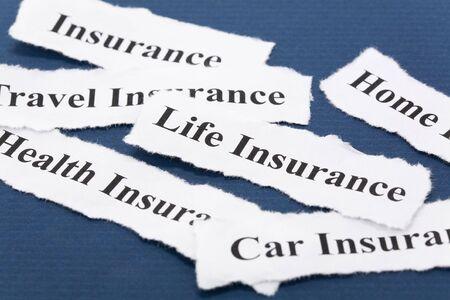 Kop van verzekerings beleid, Life, gezondheid, auto, reizen, thuis, voor achtergrond