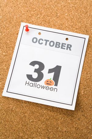 Holiday Halloween, calendar October 31 Stock Photo - 3600229