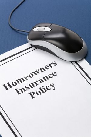 homeowners insurance: Document of Homeowners Insurance Policy for background