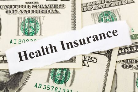 Headline of Health Insurance for background