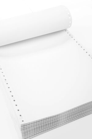 Perforated Computer Paper for background