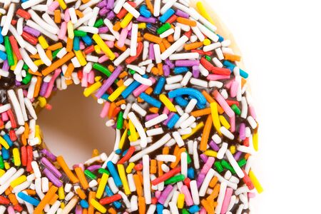 Donut with white background close up shot Stock Photo