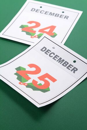 december kalender: Kerstdag, de kalender 25 december voor de achtergrond