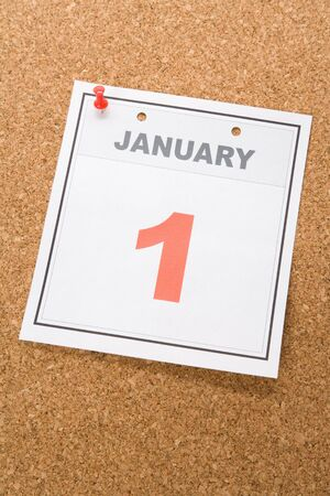 1: New Year, calendar date January 1 for background