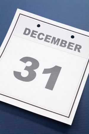 Last day of the year, calendar date December 31 for background Stock Photo - 3646802
