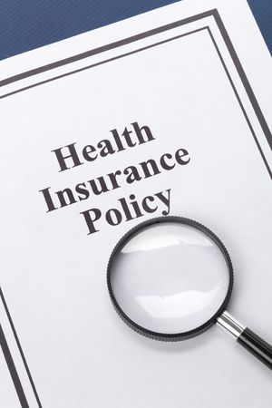Document of Health Insurance Policy for background Stock fotó