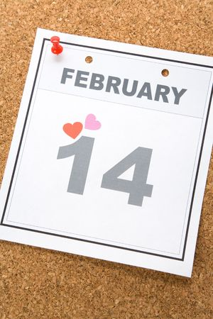 Valentine's Day, calendar date February 14 for background Stock Photo - 3668233