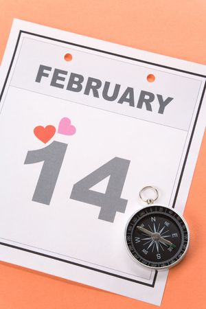 Valentine's Day, calendar date February 14 for background Stock Photo - 3668228