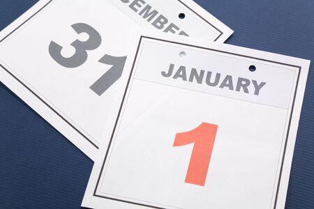 New Year, calendar date January 1 for background photo