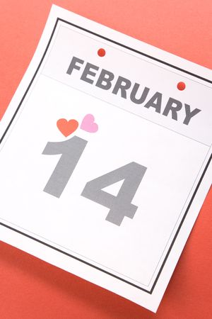 Valentine's Day, calendar date February 14 for background Stock Photo - 3679703