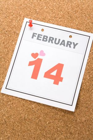 Valentine's Day, calendar date February 14 for background Stock Photo - 3735512