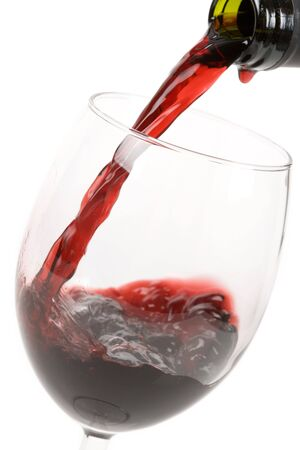 Red Wine Pouring Down to a Wineglass Stock Photo - 3793960