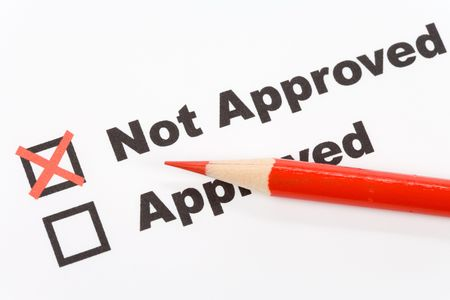 text Not Approved close up shot for background Stock Photo - 3808461