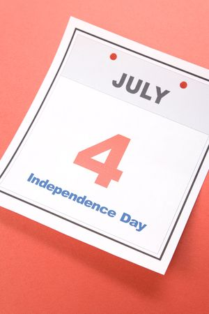 Independence Day, calendar date Fourth of July for background photo