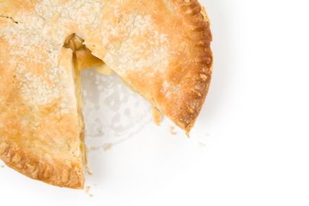 Apple Pie with white background Stock Photo - 3875881