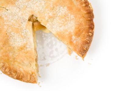 pastel de manzana: Tarta de Manzana con fondo blanco