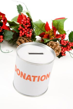 Christmas donation, Concept of charity photo