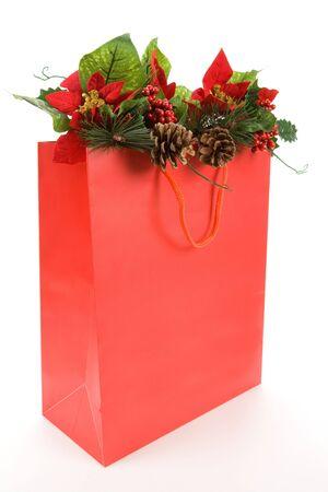 Christmas Decoration and Shopping Bag Stock Photo - 3923583