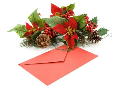 Christmas Decoration and Mail, red envelope, Greeting Card Stock Photo - 3955668