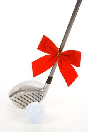 christmas backgrounds: Golf Ball and Driver for Christmas season