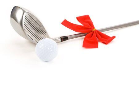 christmas golf: Golf Ball and Driver for Christmas season