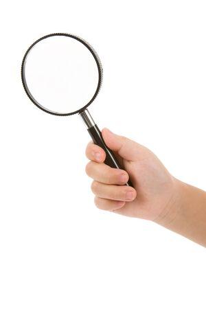 子供の手の拡大鏡