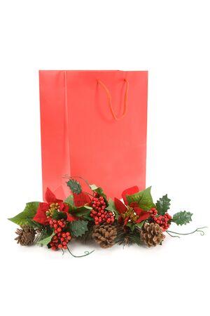Christmas Decoration and Shopping Bag  photo