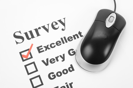 questionnaire and computer mouse, business concept Stock Photo - 3990141