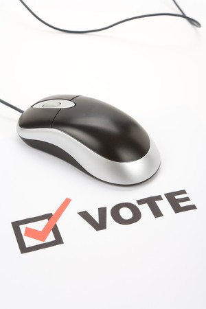Vote and Computer mouse, Online Voting Stock Photo - 3990134