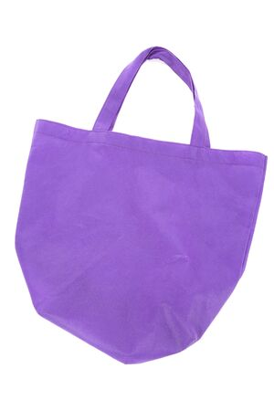Purple Shopping Bag with white background Banco de Imagens