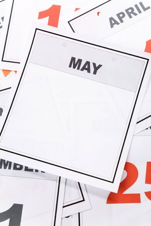Blank Calendar, May, close up for background Imagens