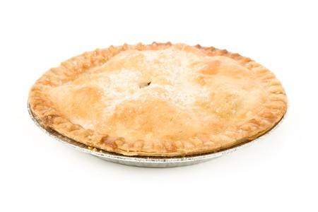 tourtes: Tarte aux pommes avec un fond blanc