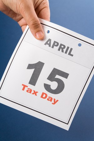 up date: Tax Day, calendar date April 15 for background