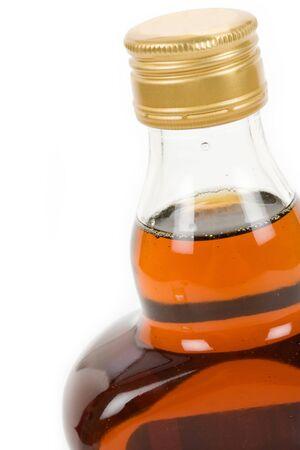 hard: Hard Liquor Bottle with white background Stock Photo