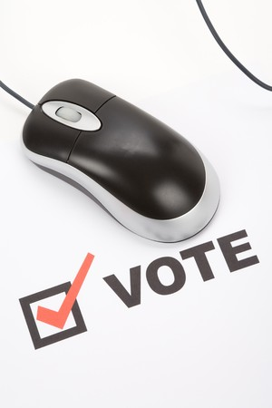 Vote and Computer mouse, Online Voting Stock Photo - 4020561